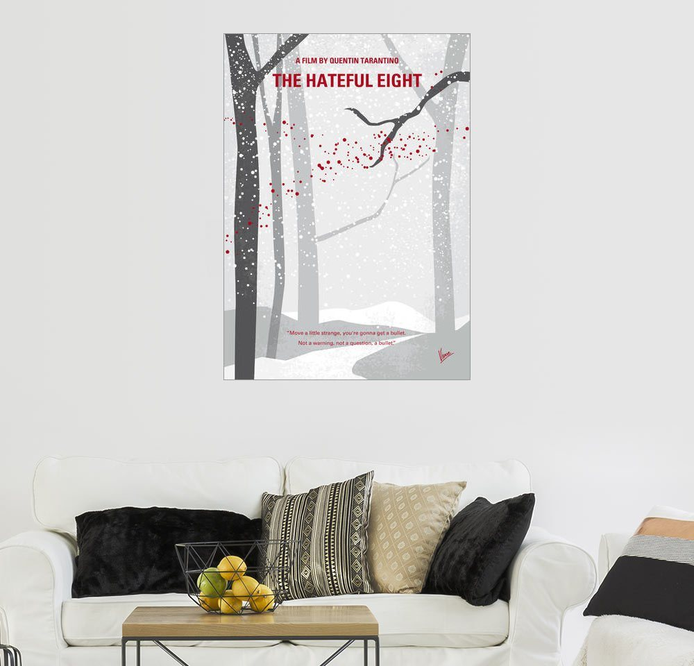 Posterlounge Wandbild – chungkong No502 My Hateful eight minimal movie poster weiß | 04053831590420