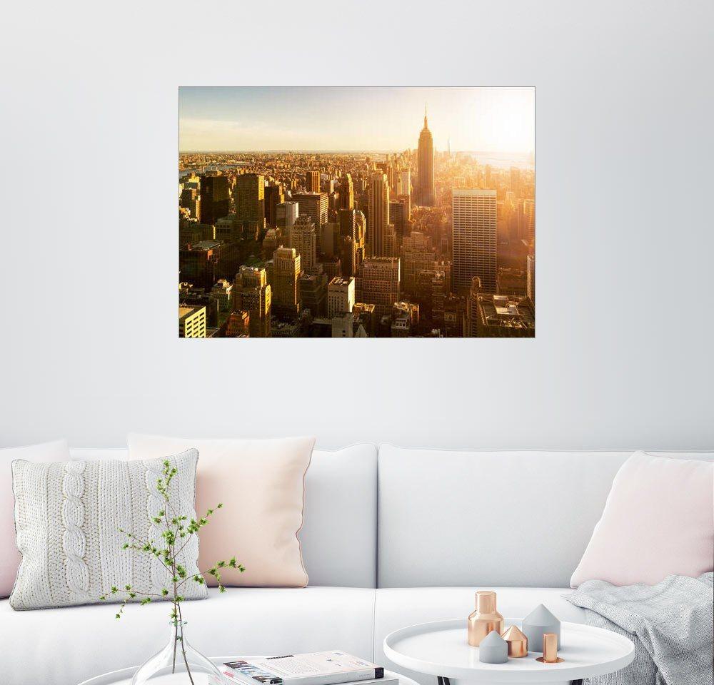 Posterlounge Wandbild - Jan Christopher Becke »Manhattan Skyline in NY bei Sonnenuntergang«