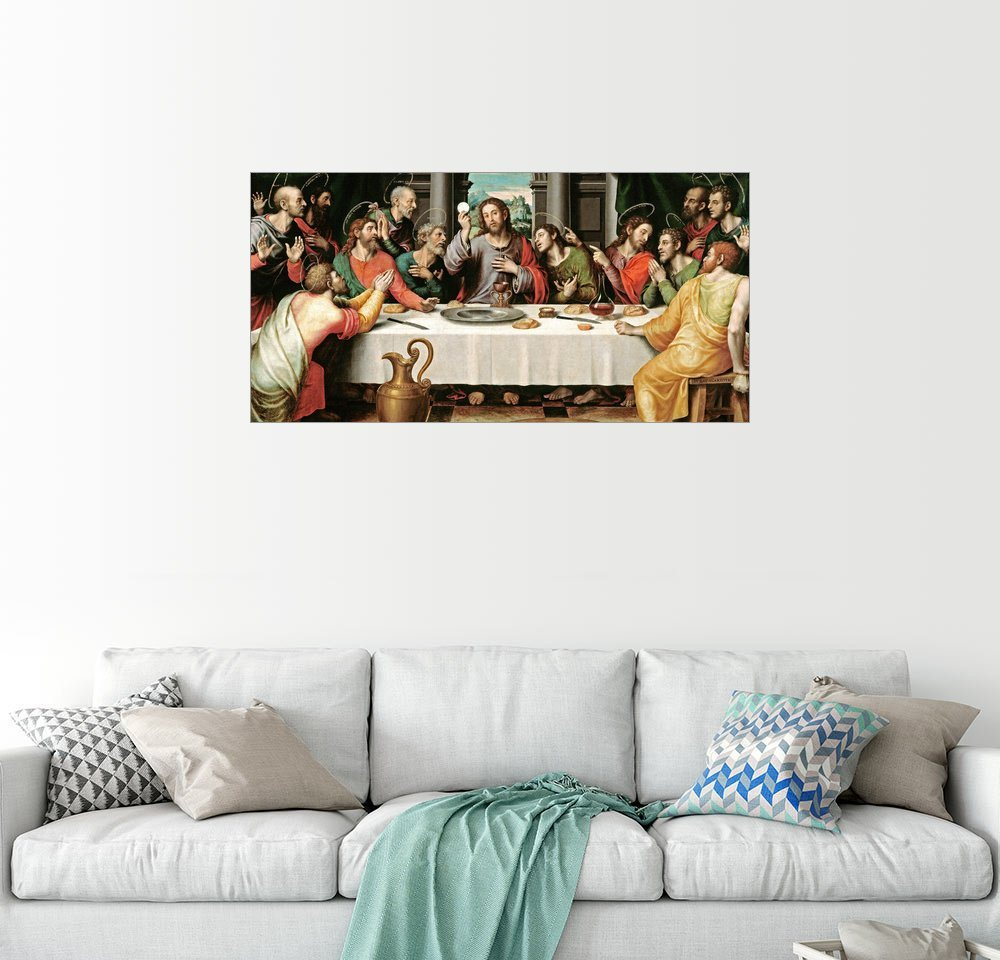 Posterlounge Wandbild – Vicente Juan Macip Das letzte Abendmahl bunt,mehrfarbig | 04053831435851