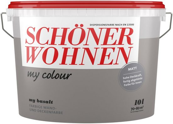 SCHÖNER WOHNEN-Kollektion Wand- und Deckenfarbe »my colour - my basalt«, matt, 10 l