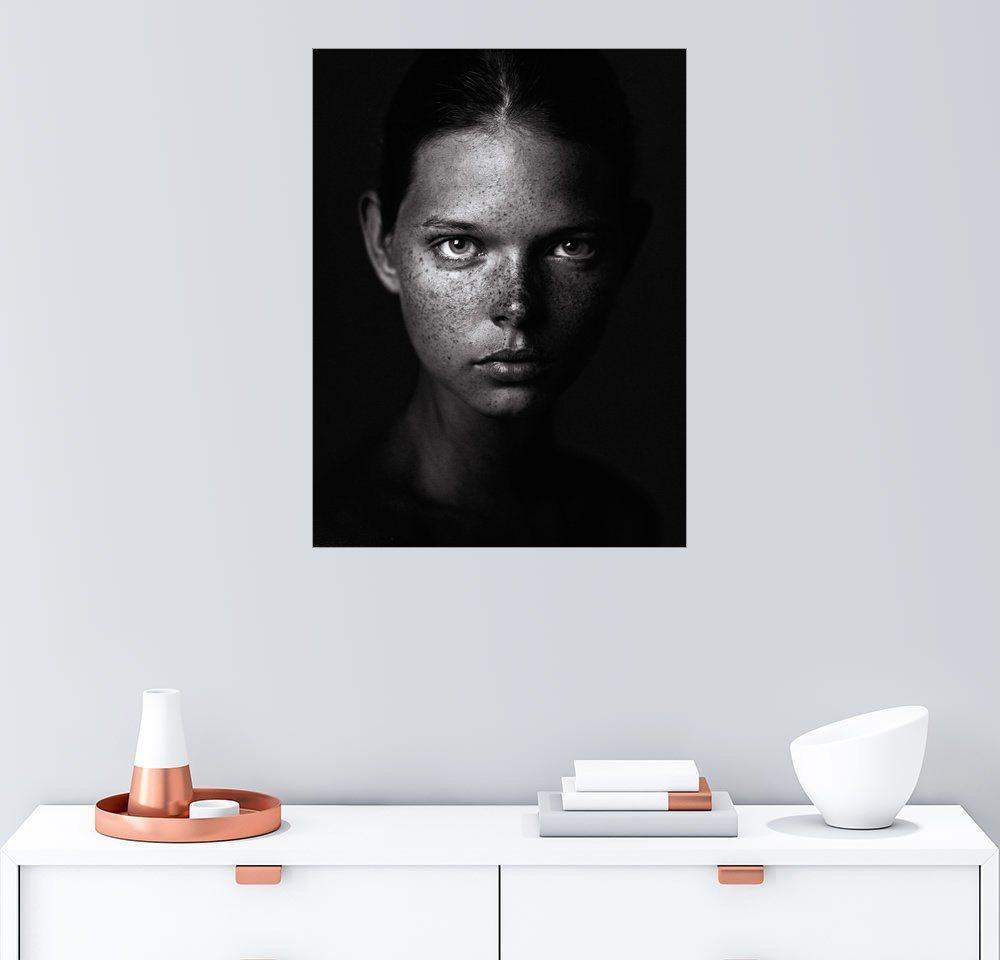 Posterlounge Wandbild – Danil Rudoy Sommersprossen schwarz | 04053831421786