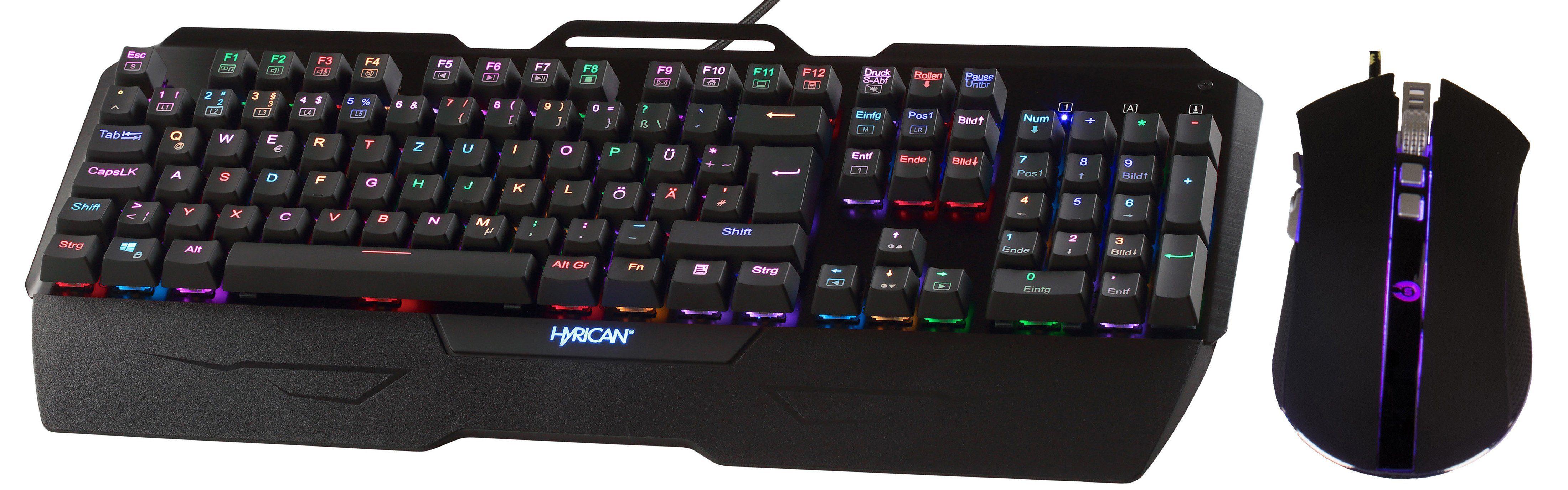 HYRICAN Striker Gaming Spar Set, RGB Maus + Tastatur »MK29/GM0108«