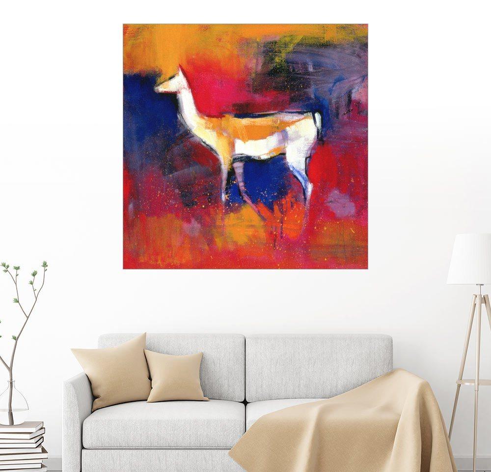 Posterlounge Wandbild – Mark Adlington Fohlen abstrakt bunt,mehrfarbig | 04053829831191