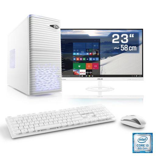 "CSL Multimedia PC Set, Core i3-8100, UHD 630, 16GB DDR4, 23"" TFT »Speed T5512 Windows 10 Home«"