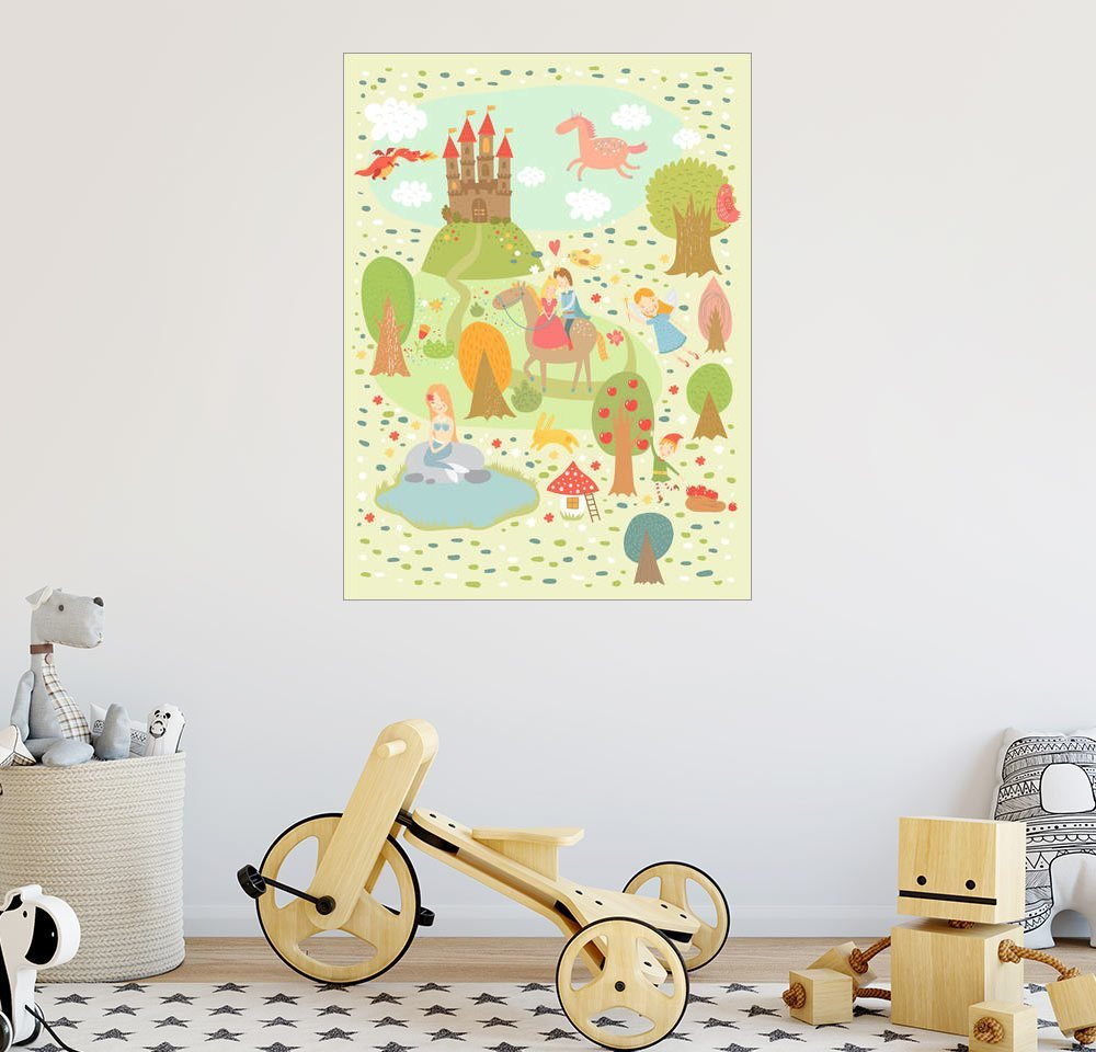 Posterlounge Wandbild – Petit Griffin Faire Tale für das Kinderzimmer weiß   04053831344221