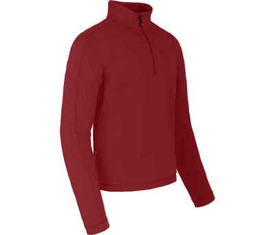 Bergson Fleeceshirt »VARDON« Herren Fleecerolli, warm, innen angeraut, Normalgrößen, dahlia rot