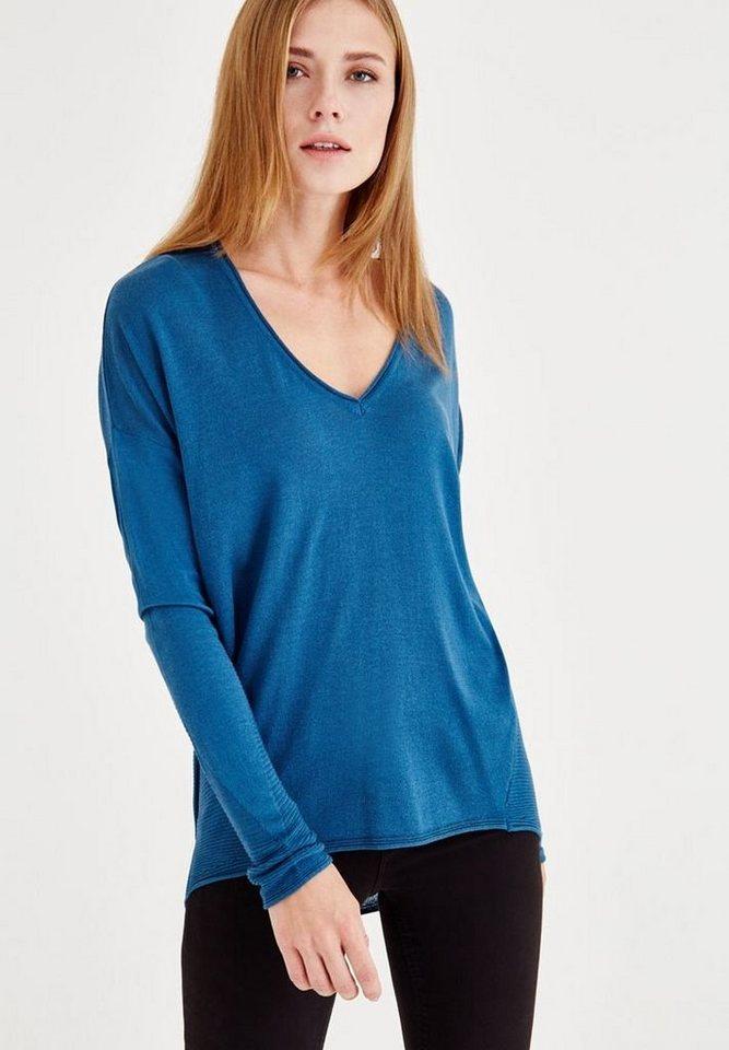 f8204a9772df2f OXXO V-Ausschnitt-Pullover mit figurumspielendes Look online kaufen ...