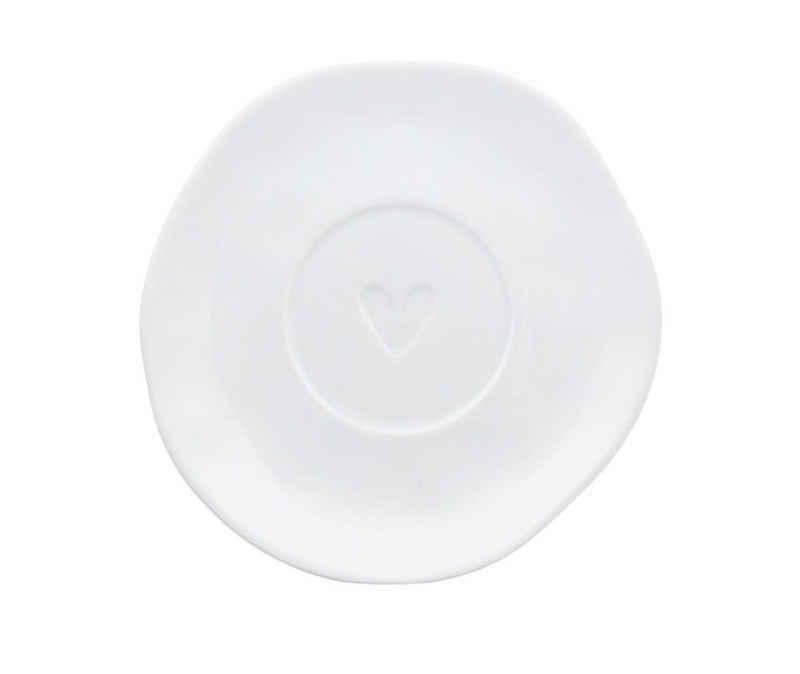 Räder Design Tasse »Inklusive Untertasse«, Porzellan, Mit einem Silbernen Herz veredelt