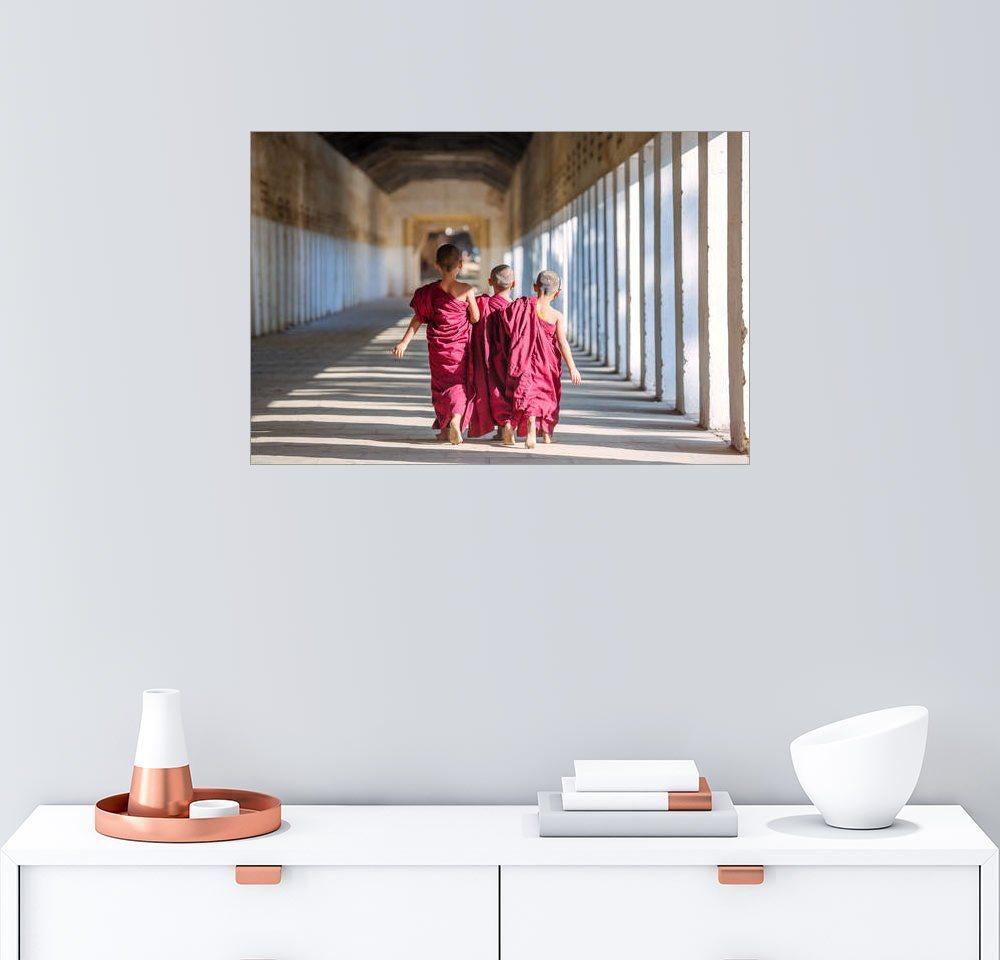Posterlounge Wandbild - Matteo Colombo »Drei kleine Mönche«   Dekoration > Bilder und Rahmen > Bilder   Holz   Posterlounge