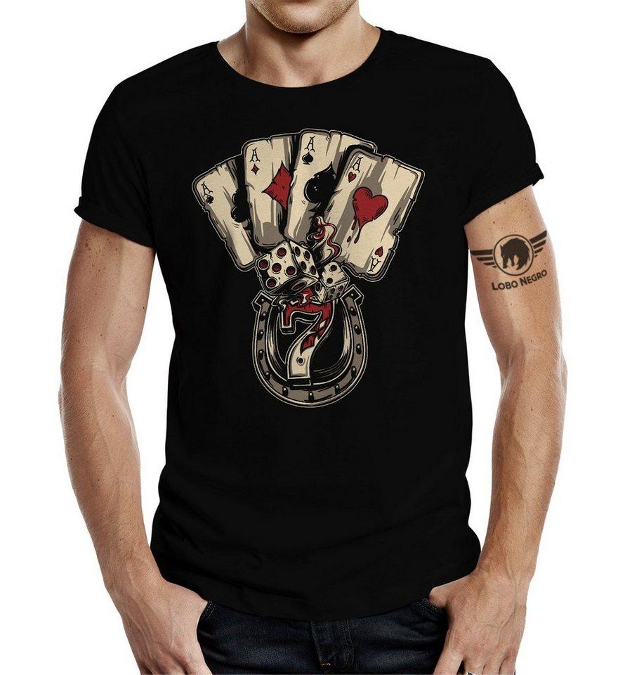0d01e7bd21e227 LOBO NEGRO® T-Shirt mit Pokerbezug »Poker Dices Zocker« online ...