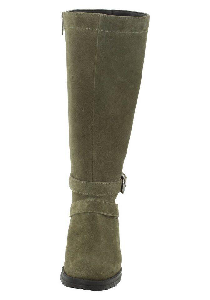 sheego Shoes Weitschaftstiefel | Schuhe > Stiefel > Weitschaftstiefel | Grün | sheego Shoes