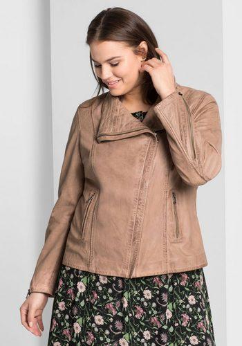 Damen sheego Style Lederjacke  | 04054697877908