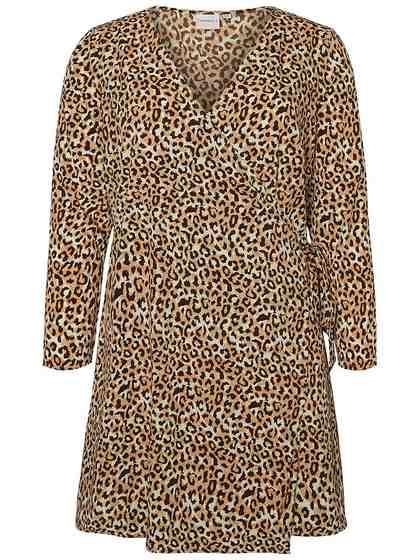 JUNAROSE Leopardenprint Wickel Kleid