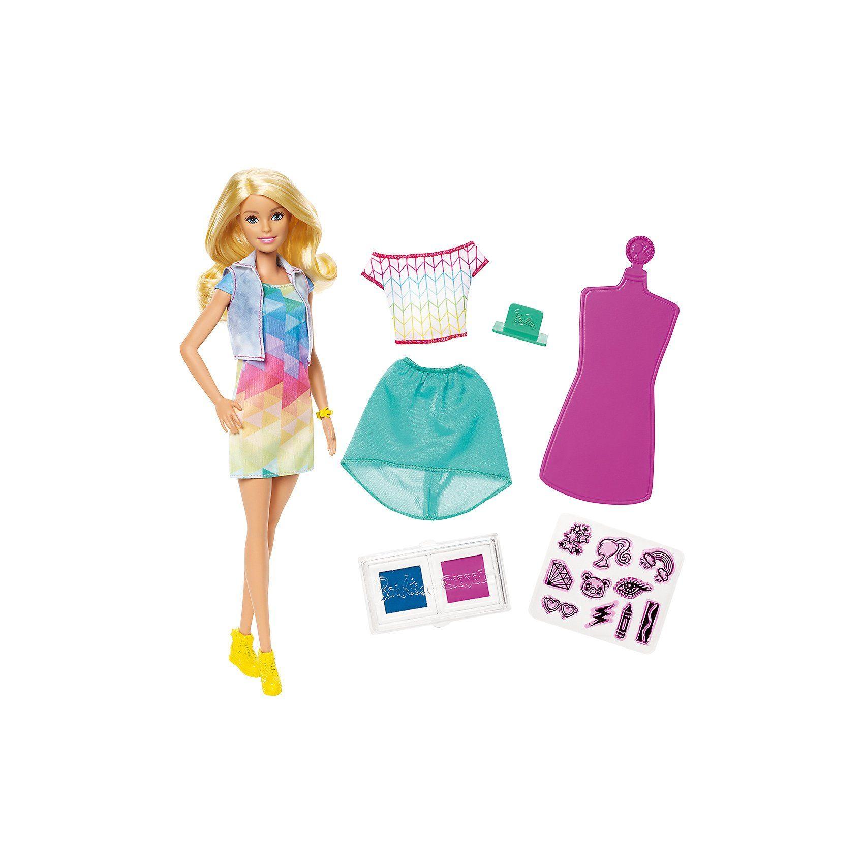 Mattel® Barbie loves Crayola Stamp N Style Puppe & Spielset