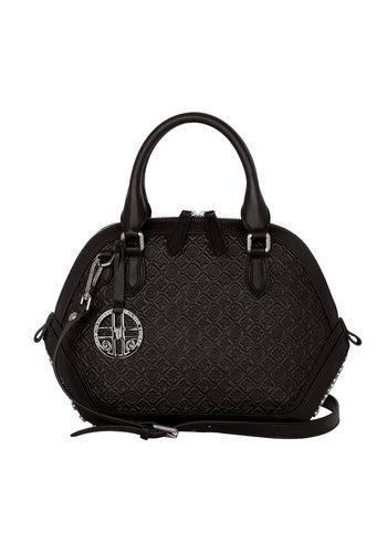 Damen Silvio Tossi Lederhand- und Schultertasche mit Marken-Prägung schwarz   00634154734285
