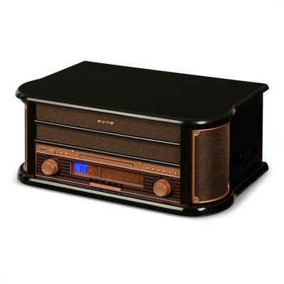 Auna »Belle Epoque 1908 Retro-Stereoanlage Plattenspieler USB CD MP3 Mikroanlage« Plattenspieler