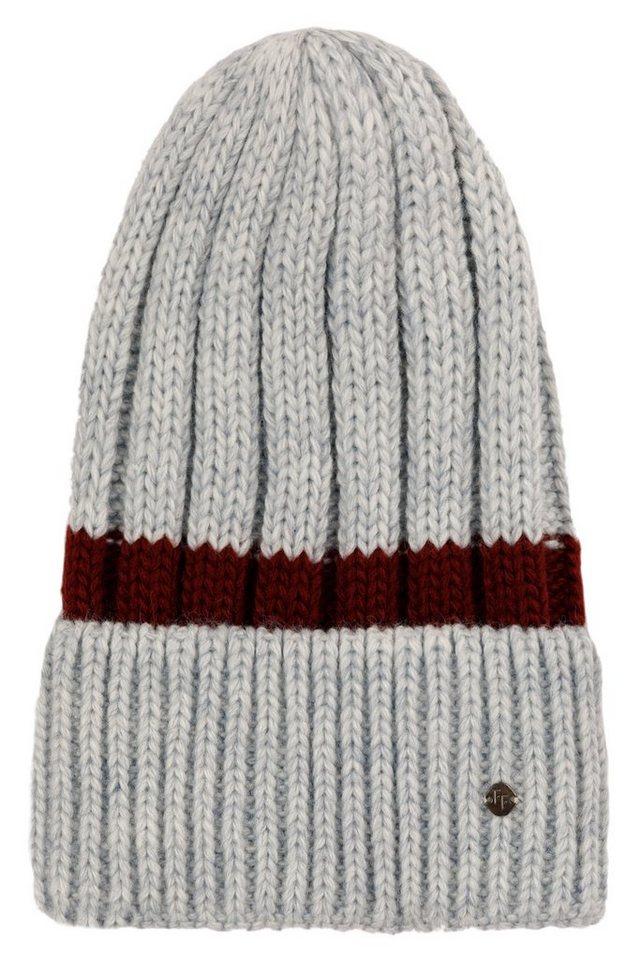 finn flare -  Strickmütze in stylischer Streifen-Optik