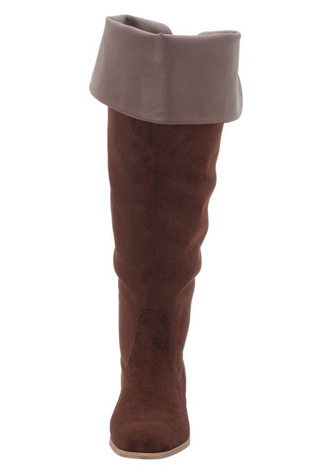 06f123efe9443 sheego Shoes Overkneestiefel, Kleiner Stretch-Einsatz hinten online kaufen    OTTO