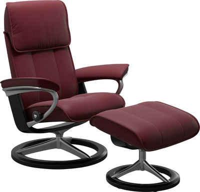 Stressless® Relaxsessel »Admiral« (Set, Relaxsessel mit Hocker), mit Hocker, mit Signature Base, Größe M & L, Gestell Schwarz