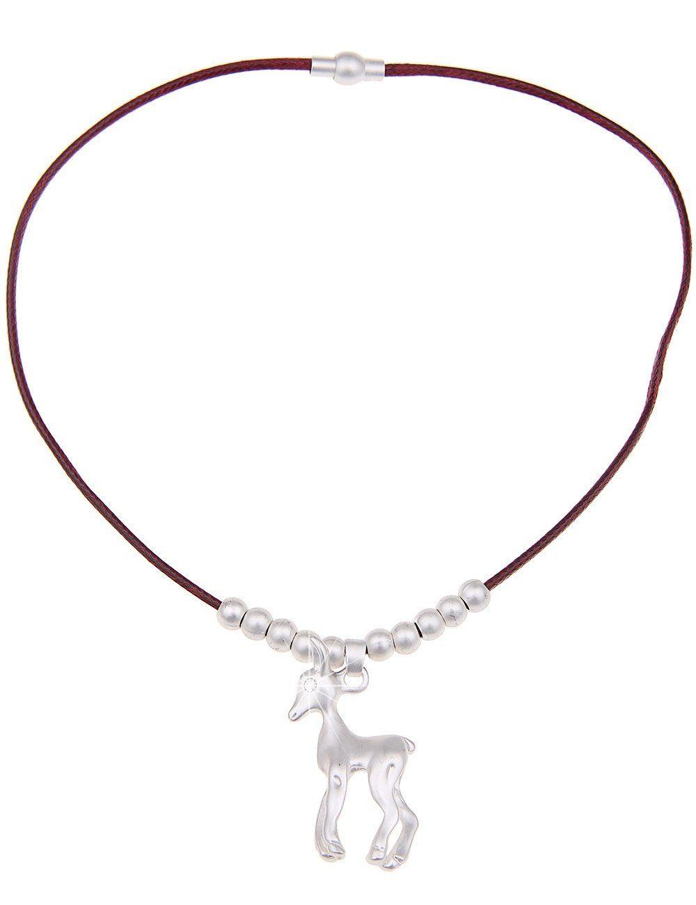 Leslii Halskette mit lieblichem Reh-Anhänger
