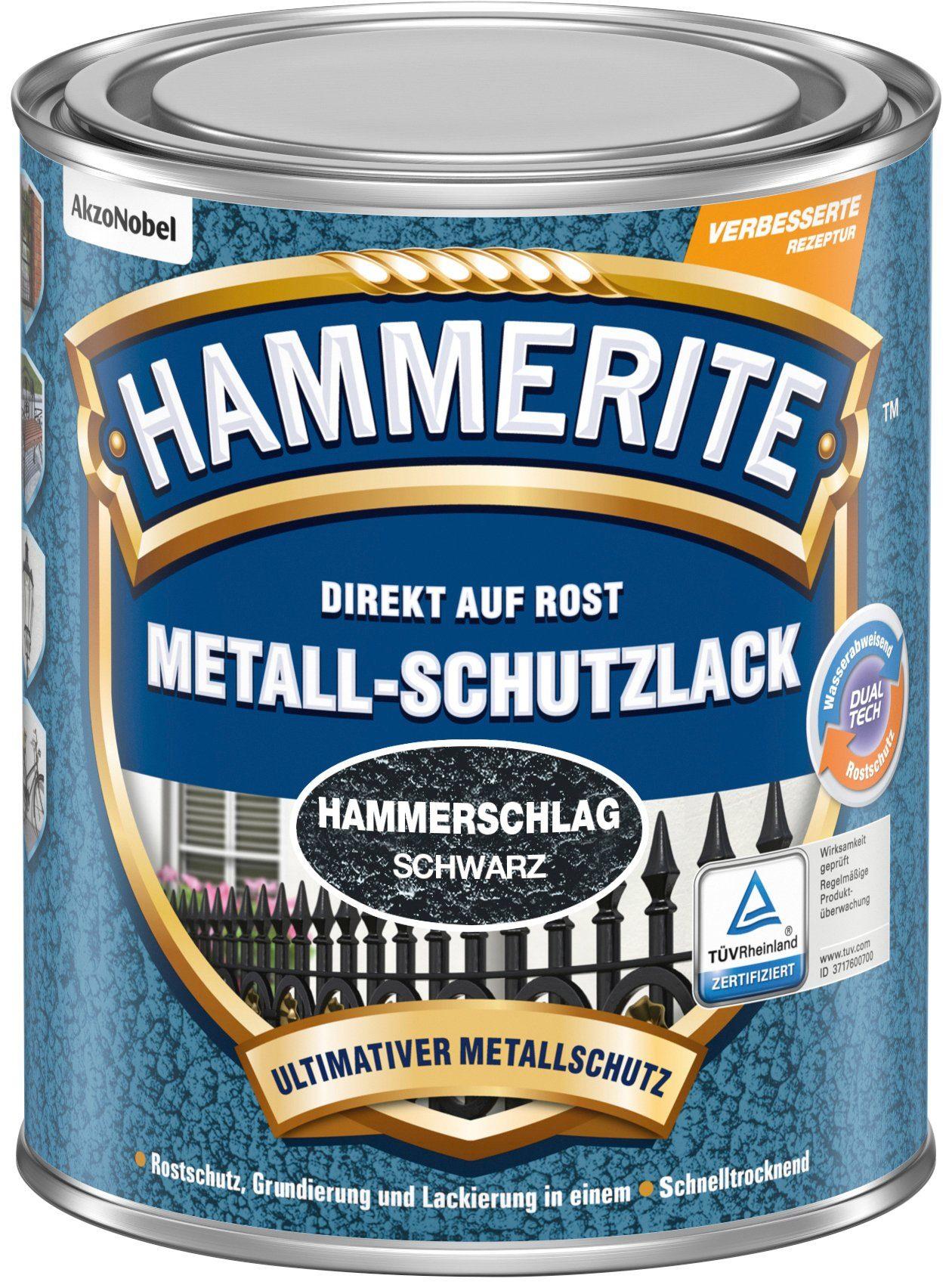 HAMMERITE Metallschutzlack »Hammerschlag«, schwarz, 0,75 Liter