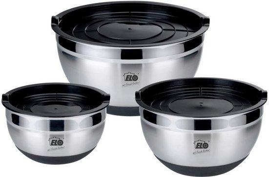 Elo Schüssel »Rubber Bowl«, Edelstahl, (Set, 3 tlg), spülmaschinengeeignet