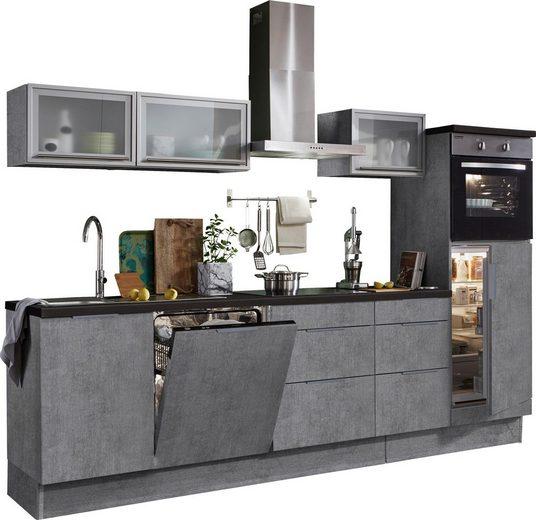 OPTIFIT Küchenzeile »Tara«, ohne E-Geräte, mit Vollauszug und Soft-Close-Funktion, Breite 280 cm