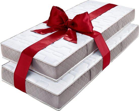 Taschenfederkernmatratze »Provita Komfort T«, my home, 20 cm hoch, 544 Federn, (Set, 2-tlg), im Super Spar-Set