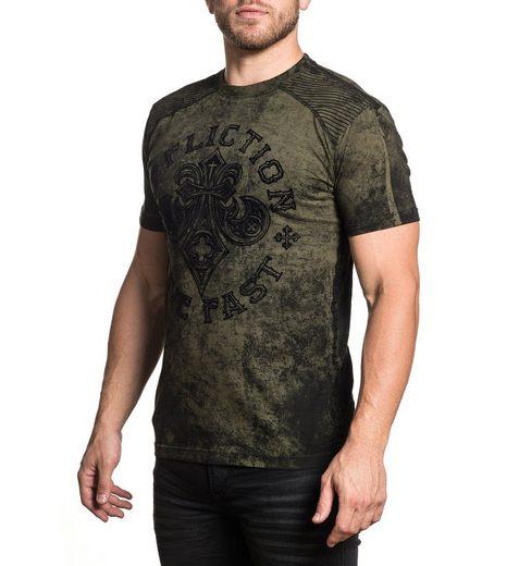Affliction Rundhals-Shirt mit Motivdruck