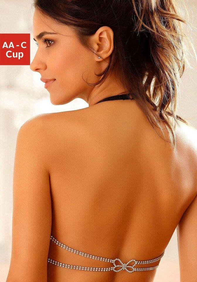 Offizielle Website komplettes Angebot an Artikeln Abstand wählen LASCANA Push-up-BH, Cups aus edler Jaquardspitze online kaufen   OTTO
