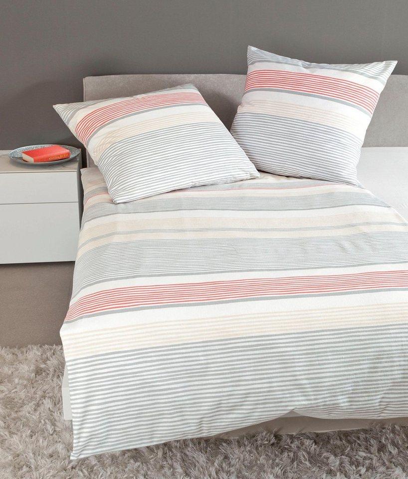 bettw sche santorini janine mit horizontalen streifen online kaufen otto. Black Bedroom Furniture Sets. Home Design Ideas