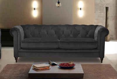 Premium Collection By Home Affaire 3 Sitzer »Chambal« Mit Klassischer  Knopfheftung