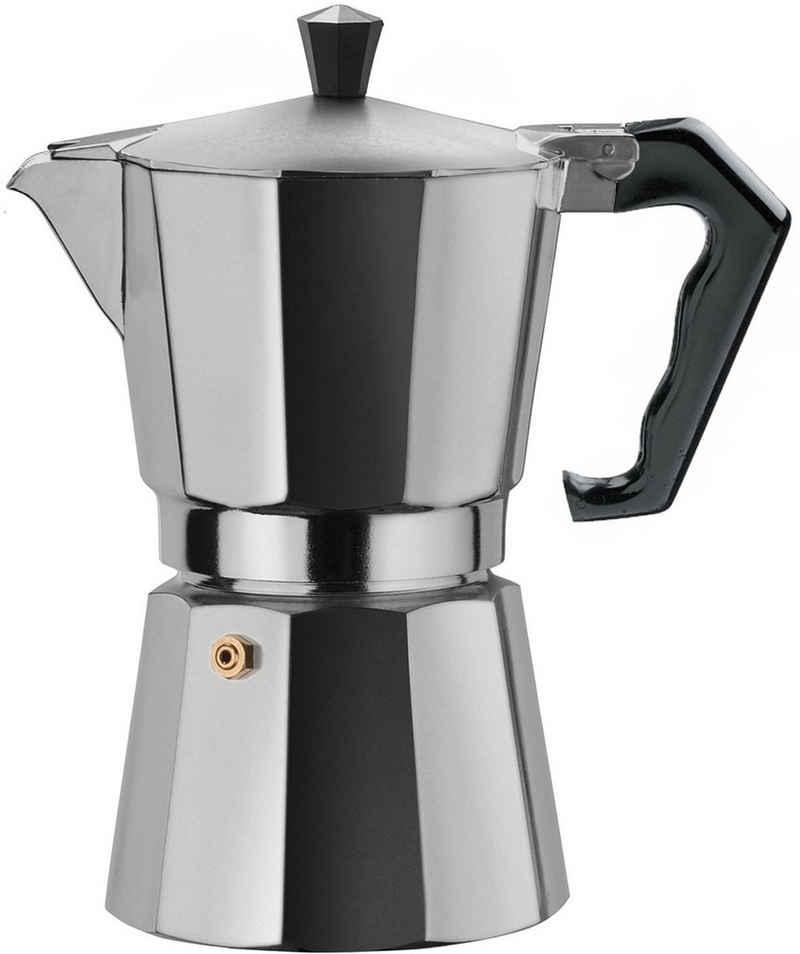 gnali & zani Espressokocher brasil, Aluminium, auch als Camping-Kocher geeignet