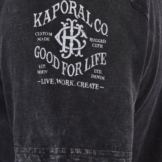 Mit Aufdruck T shirt Kaporal Schwarz Stylischem W2IeEDH9Y