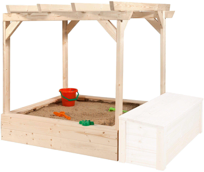 WEKA Sandkasten »Tabaluga«, BxTxH: 152x128x125 cm, mit Pergola
