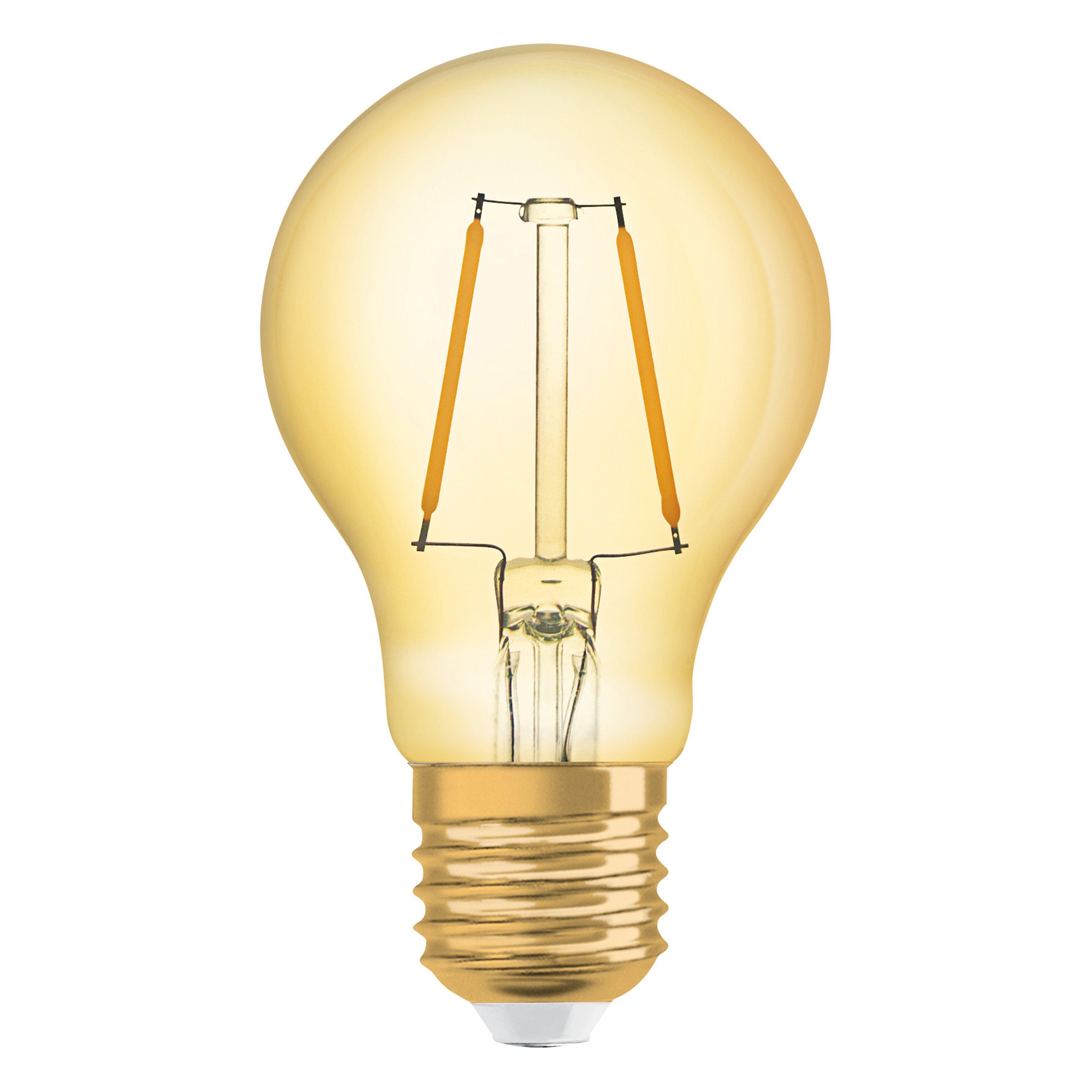 Osram LED-Lampe, Vintage-Edition, Kolbenform »Vintage 1906 LED 22 2.5 W/825 E27 GOLD«