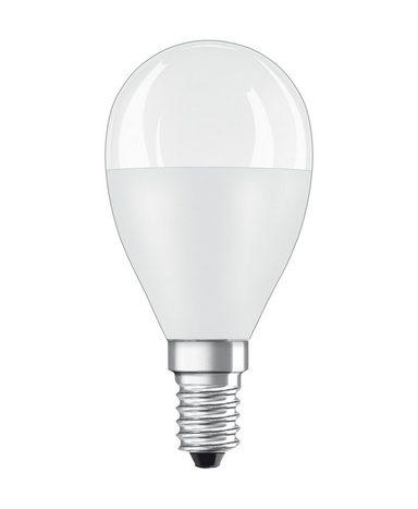 Osram Star Classic LED-Lampe, Miniballform, matt »ST CLAS P 60 FR 8 W/827 E14«