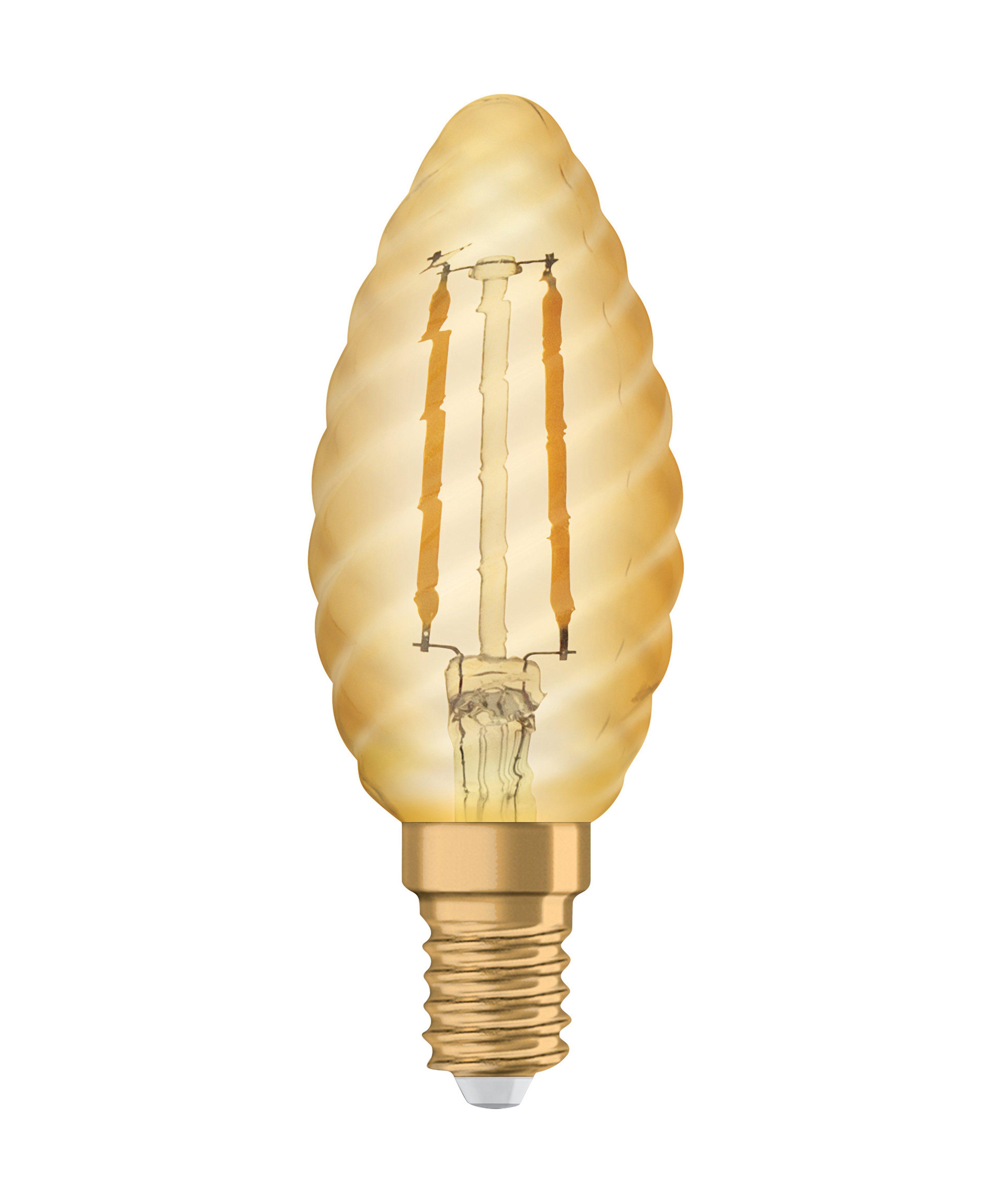 Osram LED-Lampe, Vintage-Edition, Kerze gedreht »Vintage 1906 LED 12 1.4 W/825 E14 GOLD«
