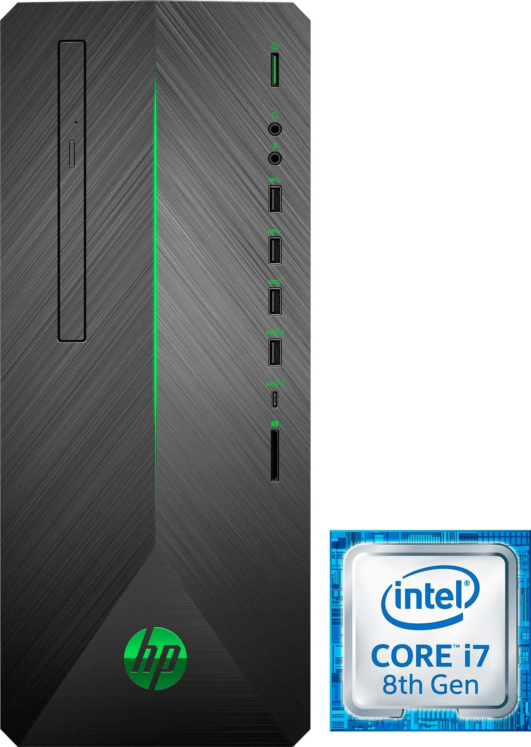 HP Pavilion 790-0501ng Gaming-PC (Intel® Core i7, GeForce, 16 GB RAM, 1000 GB HDD, 256 GB SSD)