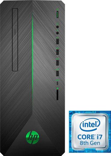 HP Pavilion 790-0501ng Gaming-PC (Intel® Core i7, GTX 1080, 16 GB RAM, 1000 GB HDD, 256 GB SSD)