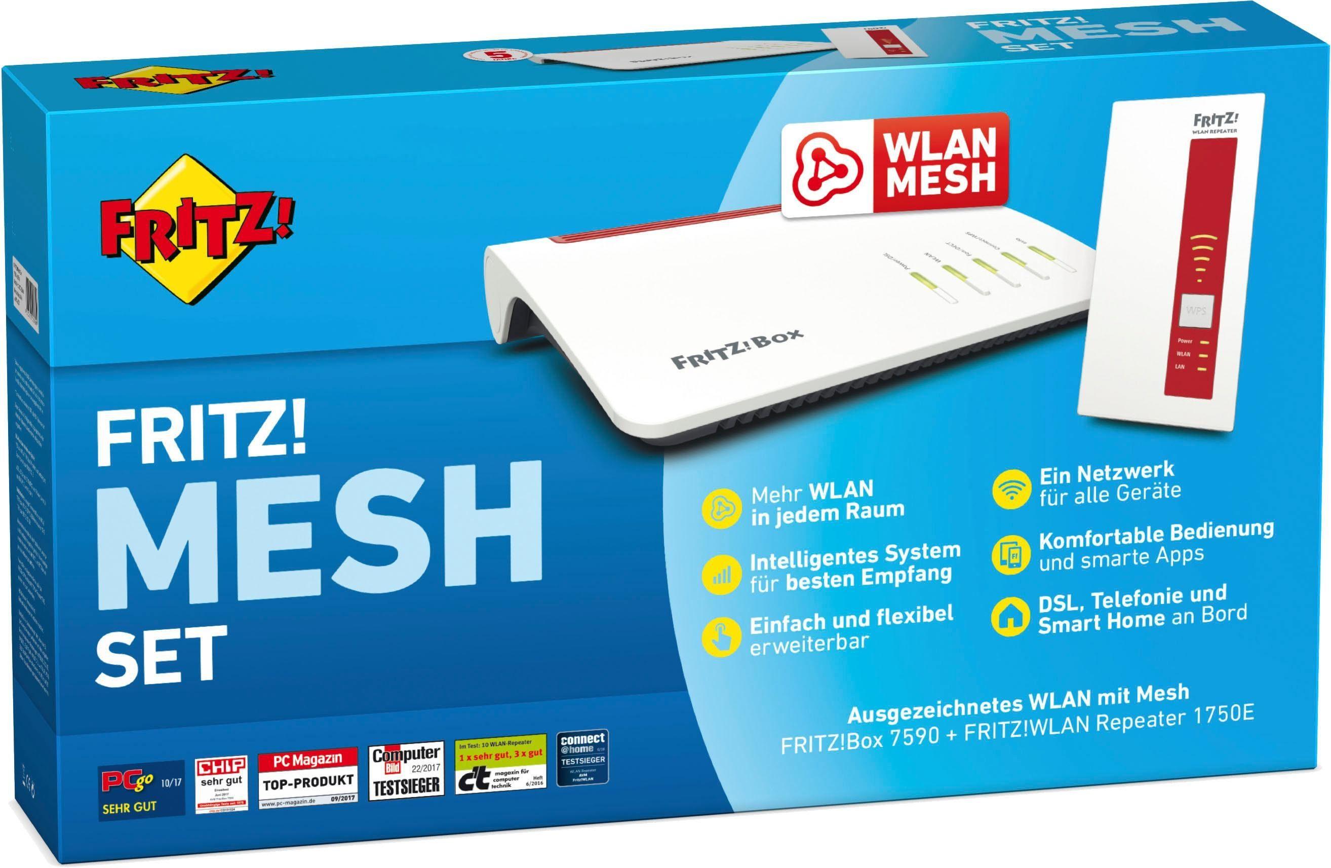 AVM FRITZ! Mesh Set 7590+1750 WLAN Bundle