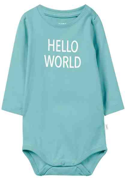 Name It Langarmbody »HELLO WORLD«