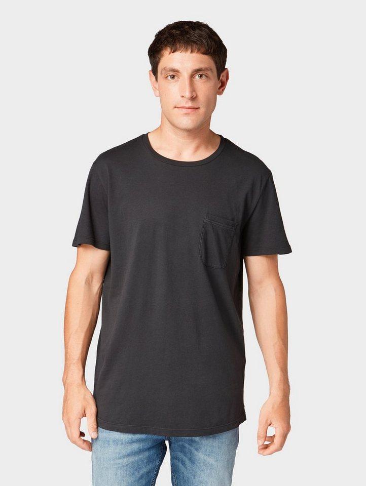 Herren TOM TAILOR Denim  T-Shirt T-Shirt mit Waschung schwarz | 04062105493862