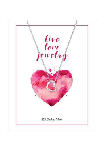 Elli Collierkettchen »Herz Love Ewigkeit Heart Basic 925 Silber«