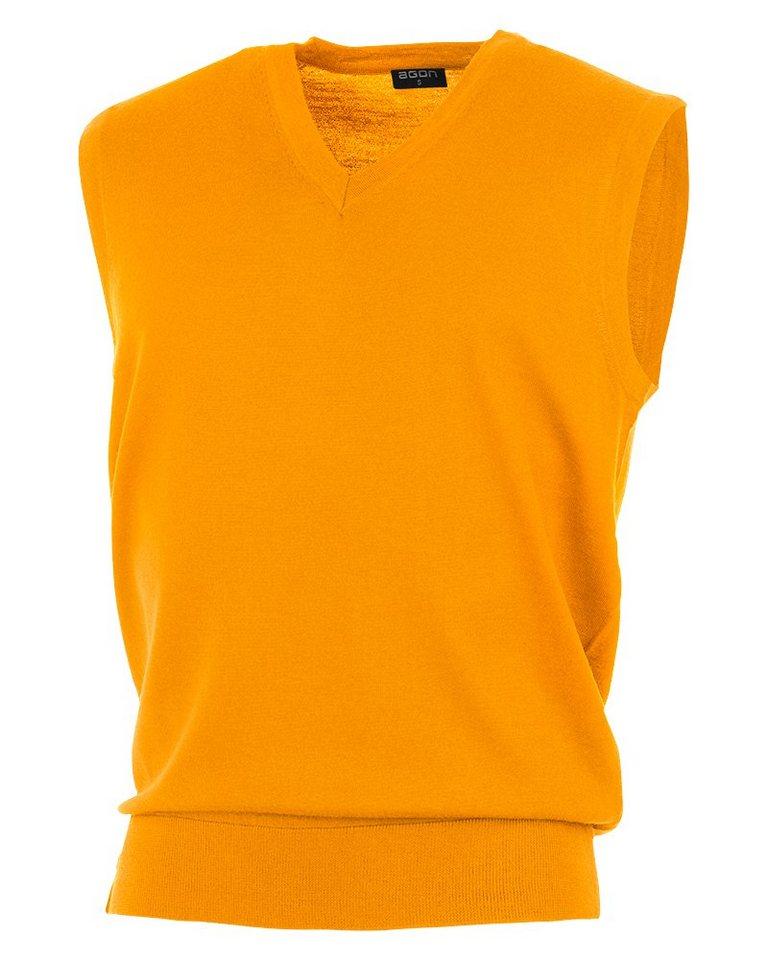 agon® V-Pullunder mit Total-Easy-Care-Behandlung | Bekleidung > Pullover > Pullunder | Orange | Wolle | agon®