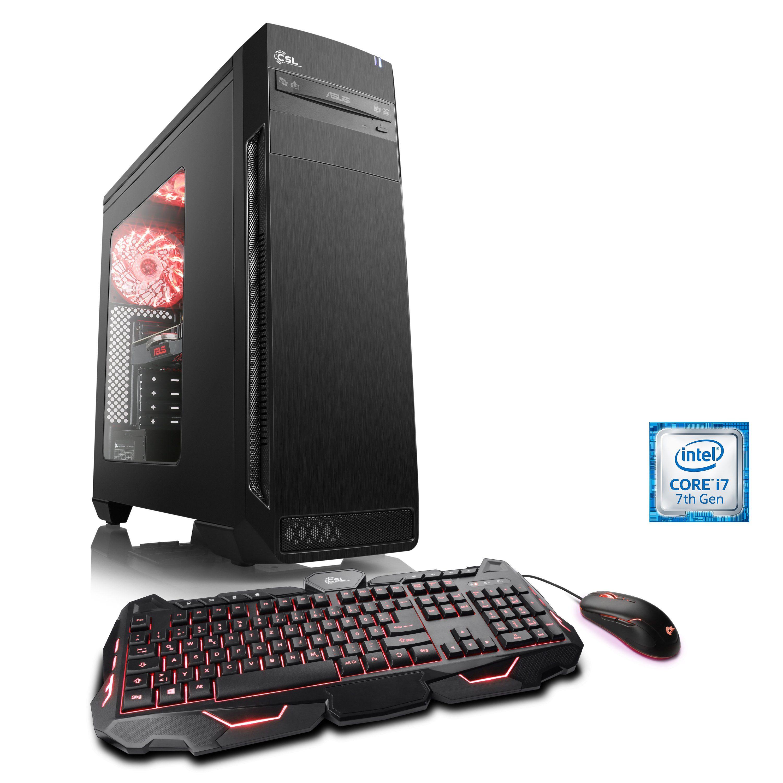 CSL Gaming PC | Core i7-7700 | GeForce GTX 1060 | 8 GB RAM | SSD »Speed T9975 Windows 10 Home«