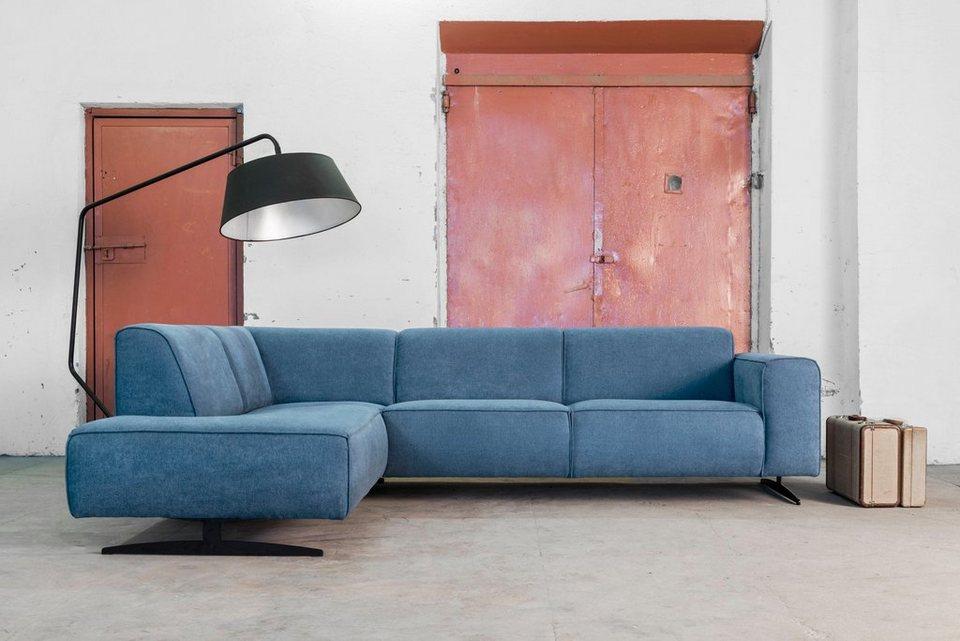 places of style ecksofa murcia mit federkern keder und besonderen metallf en online kaufen. Black Bedroom Furniture Sets. Home Design Ideas