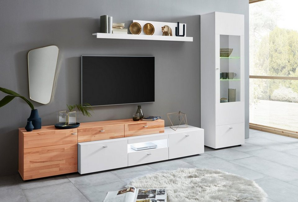 wohnwand borina 3 tlg online kaufen otto. Black Bedroom Furniture Sets. Home Design Ideas