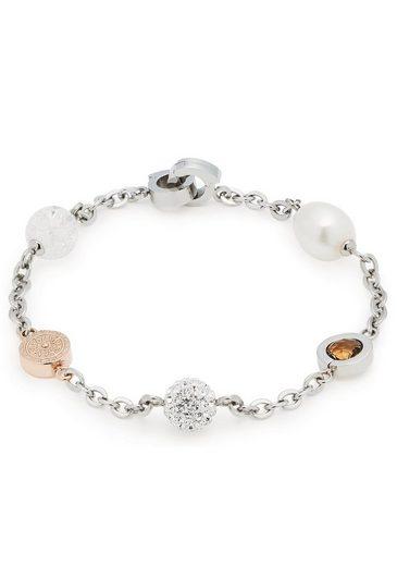 LEONARDO Armband »Senso 1 Darlin's, 016672« mit Süßwasserzuchtperle, Glas- und Kristallsteinen