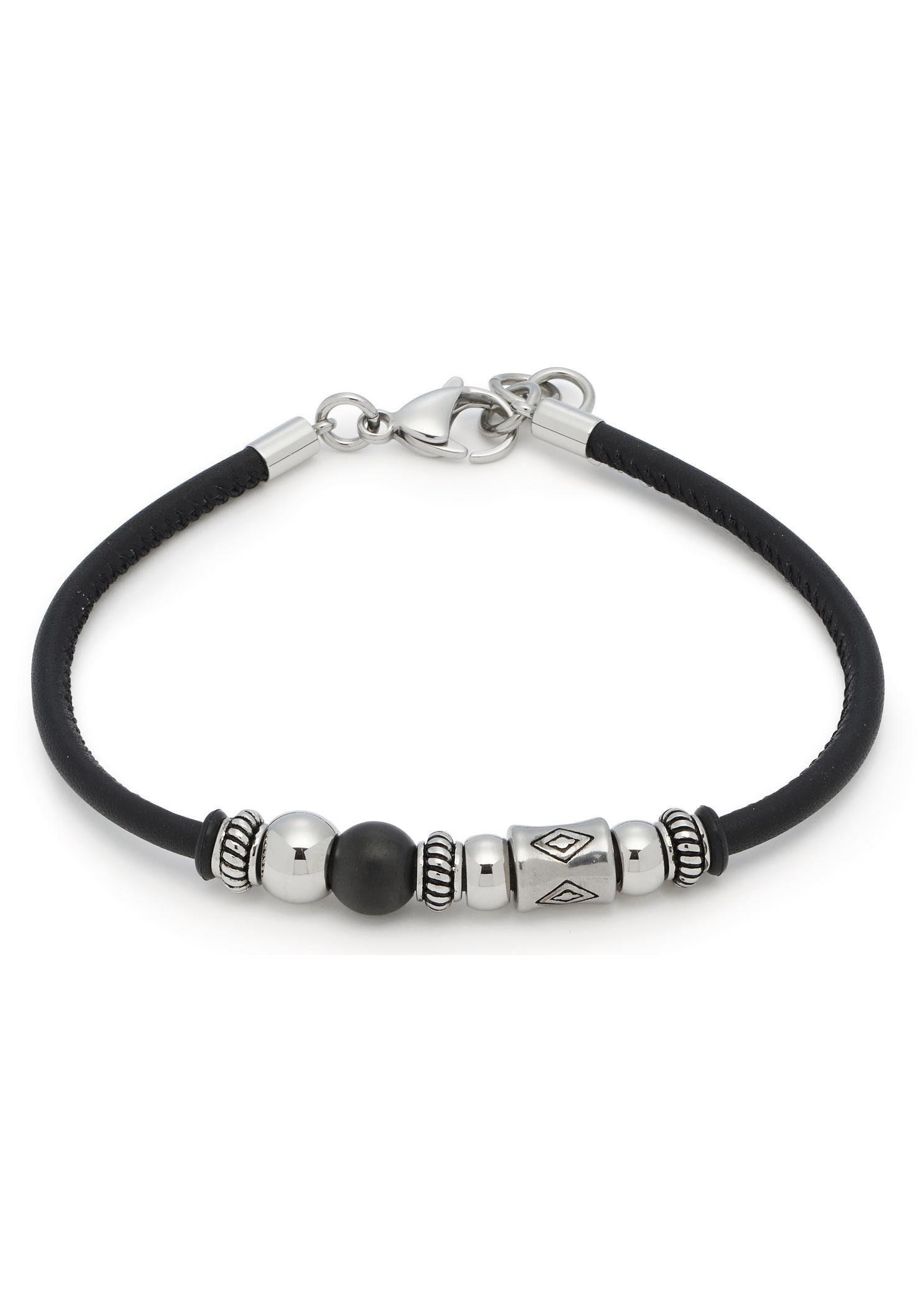 LEONARDO Armband »Matteo Men, 016738« mit Glassteinen